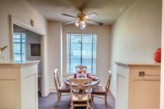 spacious one bedroom apartment in st. louis senior living community